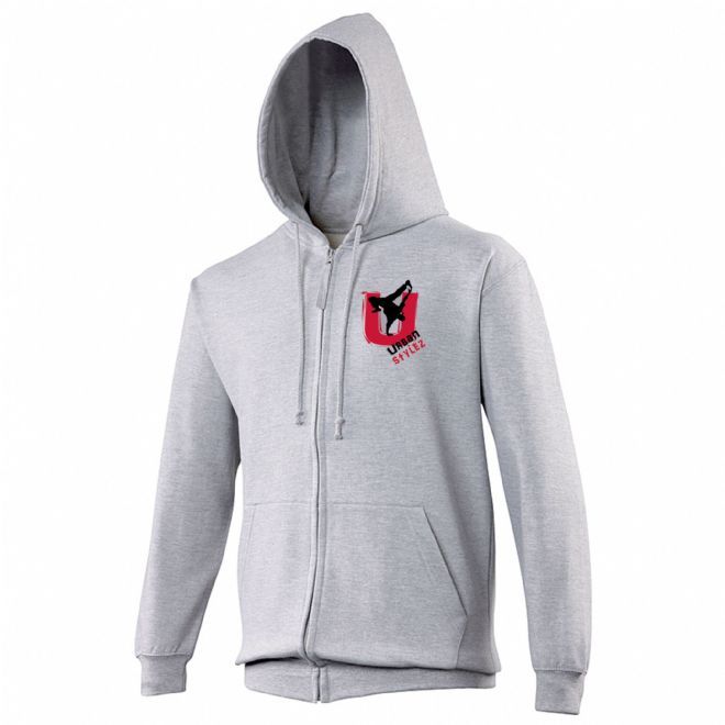 Urban Stylez Grey Zipped Hoodie Kids & Adults
